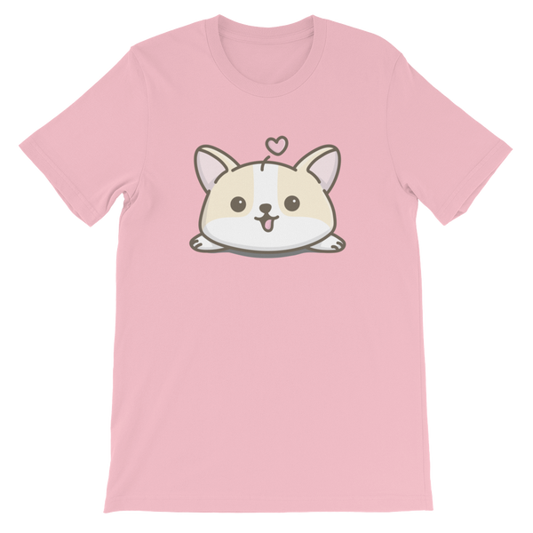 Creamy Corgi T Shirt (double sided design), Unisex