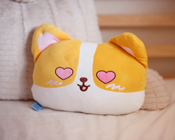 Corgi Face Cushion - Double Sided