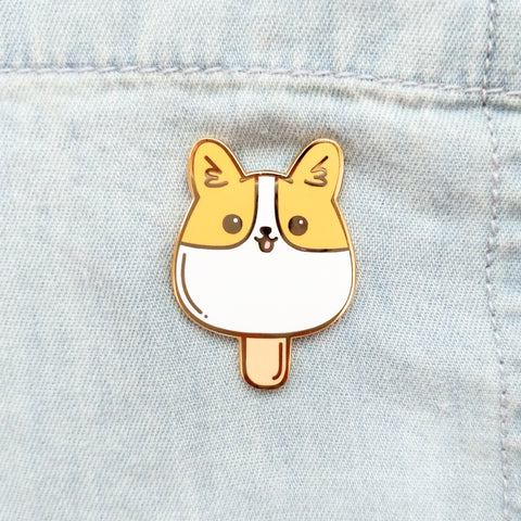 Popsicle Corgi Pin
