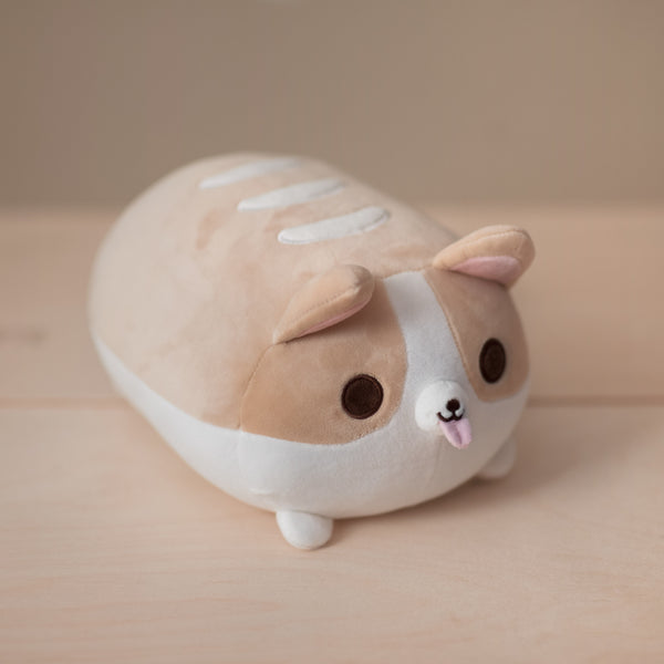 Corgi Bread Loaf Plushie - Small