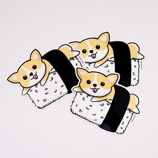 Sushi Corgi Sticker