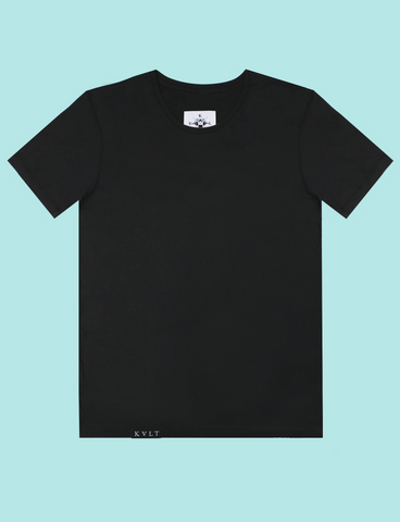 BASIK Tee in Black by KULT Clothing