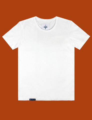 BASIK Tee in White by KULT Clothing