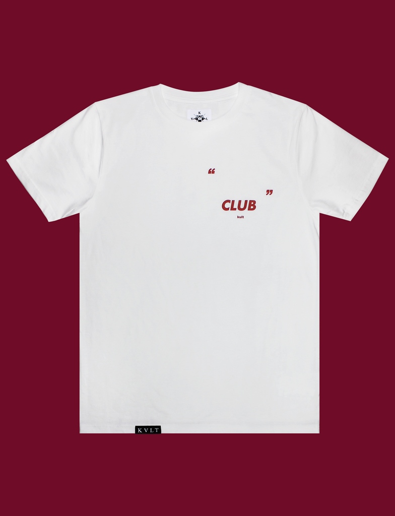MAKE YOUR OWN CLUB Tee in White by KULT Clothing
