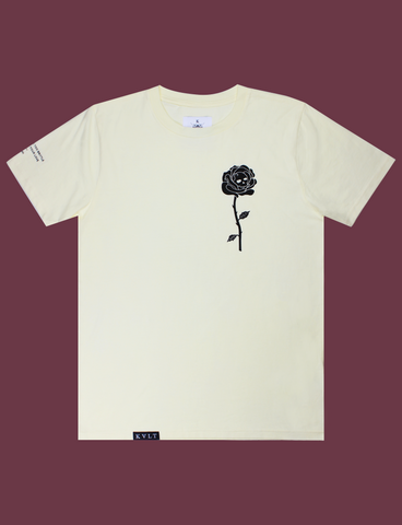 GARDEN OF DEATH Tee in Primrose by KULT Clothing | eco-friendly, climate neutral t-shirt