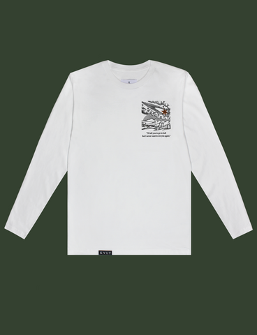 GO TO HELL Longsleeve Tee in White by KULT Clothing | I'd tell you to go to hell but I never want to see you again