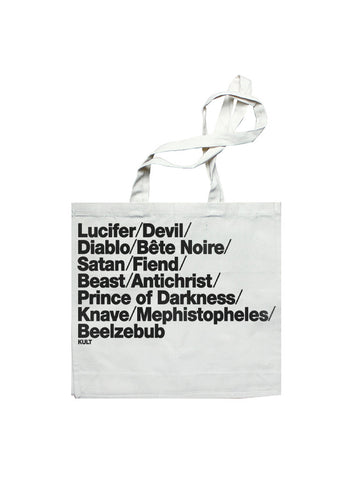 HELL CITY Tote Bag in Natural Canvas by KULT