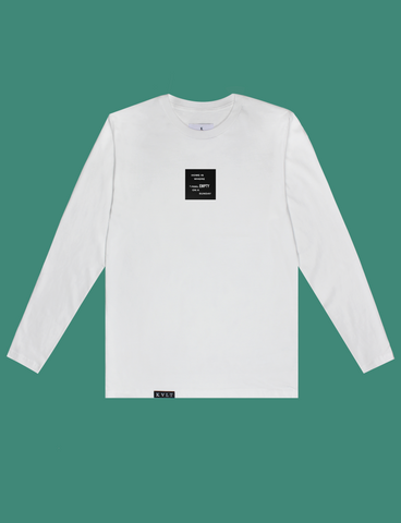 HOME Longsleeve in White by KULT Clothing | Home is where I feel empty on a Sunday