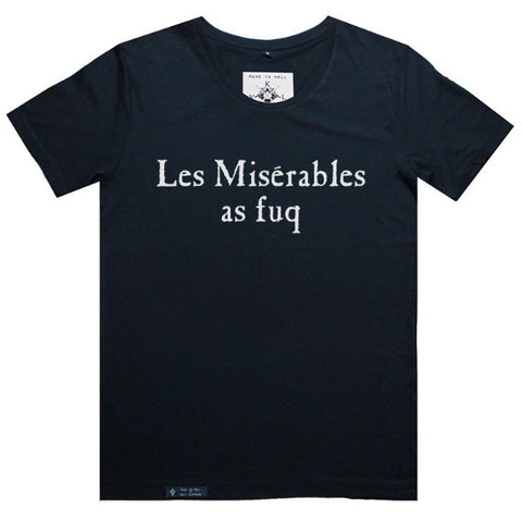 LES MISERABLES AS FUQ Tee in Black by KULT
