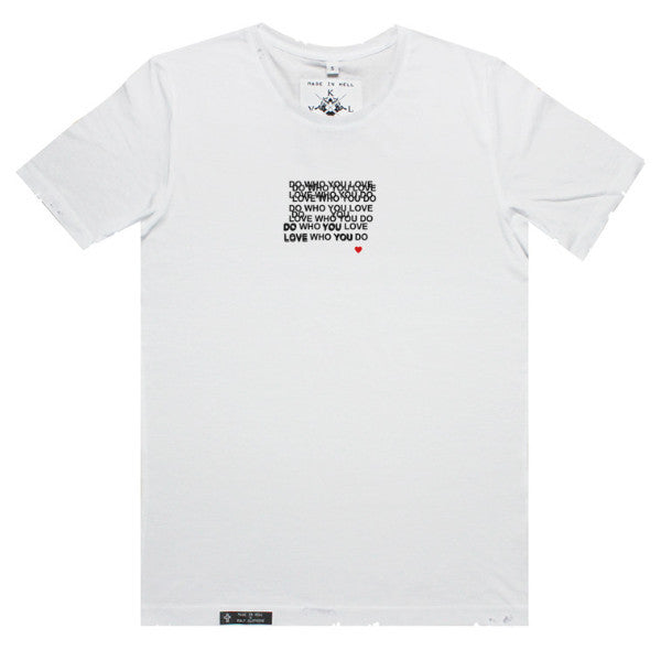 LOVE YOURSELF Tee in White by KULT