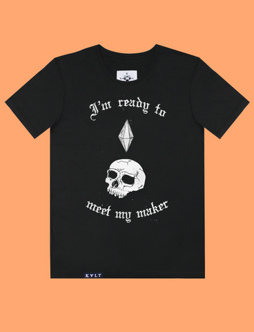MEET MY MAKER Tee in Black by KULT