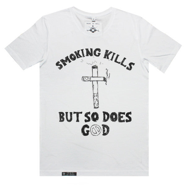 SMOKING KILLZ Tee in White by KULT