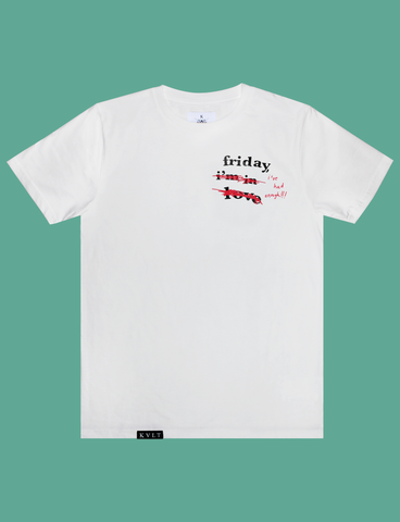 THERE IS NO CURE Tee in White by KULT Clothing | Friday, I've had enough