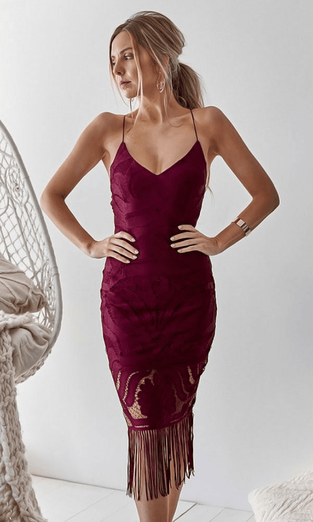 Khaleesi Dress - Mulberry