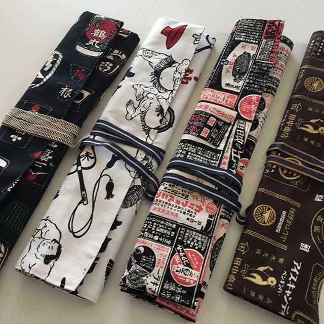 Very traditional Japanese looking knife roll !!