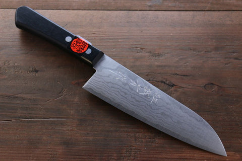 Shigeki Tanaka 17 Layer Damascus Hand Forged Japanese Chef's Santoku Knife 165mm