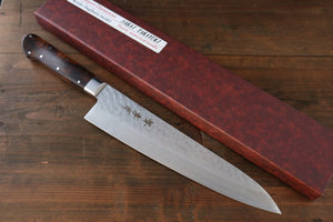 Sakai Takayuki 17 Layer Damascus VG10 Steel Gyuto with Desert Iron Wood Handle (Chef's Knife)-Gyuto 240mm