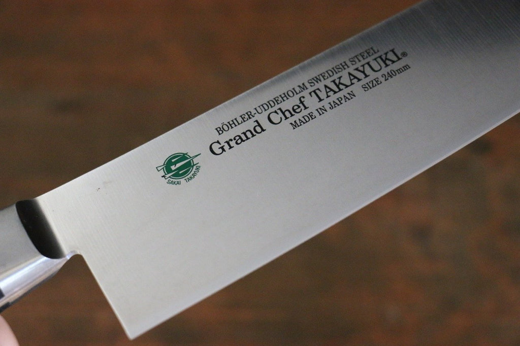 Sakai Takayuki Grand Chef Swedish Steel 'Extra Narrow' Slicer Knife-Slicer 240mm