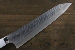 Takeshi Saji SRS13 Hammered Damascus Gyuto Japanese Chef Knife 240mm with White Stone handle