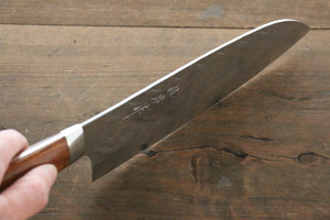 Takeshi Saji SRS13 Hammered Santoku Japanese Chef Knife 180mm with Iron Wood Handle