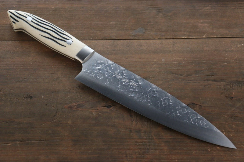 Takeshi Saji SRS13 Hammered Gyuto Japanese Chef Knife 210mm with Bone Handle - Japanny - Best Japanese Knife