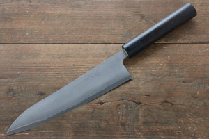 Ogata Silver Steel No.3 Damascus Black Finished Gyuto Japanese Knife 210mm with Shitan Handle