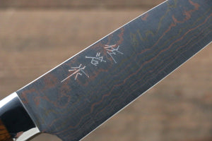 Takeshi Saji Blue Steel No.2 Colored Damascus Petty-Utility Japanese Knife 150mm with Ironwood Handle