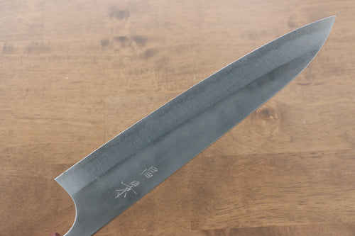 Ogata R2/SG2 Migaki Finished Petty-Utility Japanese Knife 140mm with Shitan Handle - Japanny - Best Japanese Knife