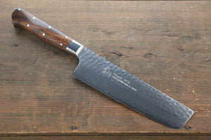 Sakai Takayuki 33 Layer Damascus VG10 Nakiri Japanese Chef Knife 160mm with Desert Iron Wood