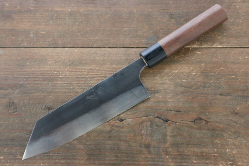 Ogata R2/SG2 Kurouchi Black Finished Bunka Japanese Knife 180mm with Shitan Handle - Japanny - Best Japanese Knife