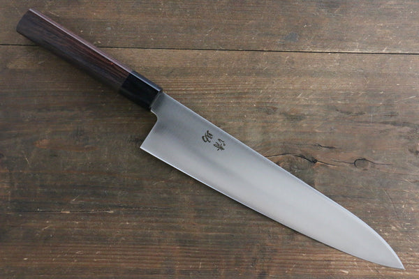 Seisuke Molybdenum Vanadium Gyuto Japanese Chef Knife 240mm Shitan Rosewood Handle
