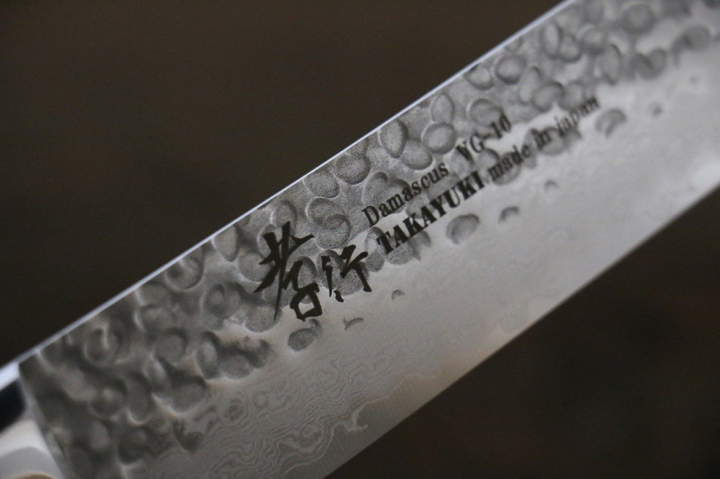 Sakai Takayuki 33 Layer Damascus VG10 Kiritsuke Yanagiba Japanese Chef Knife 270mm with Desert Iron Wood
