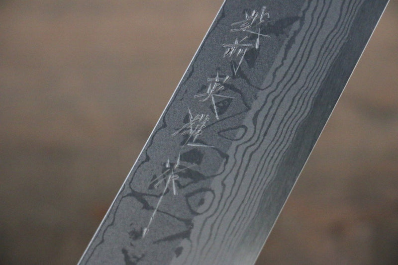 Hideo Kitaoka Blue Steel No.2 Damascus Kiritsuke Yanagiba Japanese Chef Knife 270mm - Japanny - Best Japanese Knife