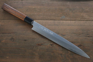 Hideo Kitaoka Blue Steel No.2 Damascus Yanagiba Japanese Chef Knife 240mm