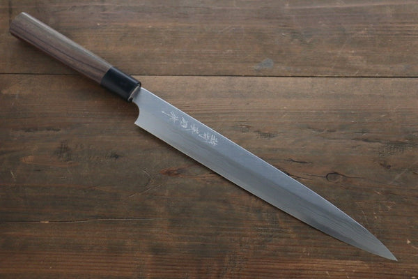 Hideo Kitaoka Blue Steel No.2 Damascus Yanagiba Japanese Chef Knife 270mm