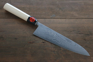 Shigeki Tanaka Blue Steel No.2 17 Layer Damascus Gyuto Japanese Chef Knife 210mm with Magnolia Handle (ferrule: Water Buffalo)