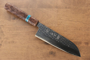 Yoshimi Kato Silver Steel No.3 Hammered Sujihiki Japanese Chef Knife 270mm with Red Honduras Rosewood Handle