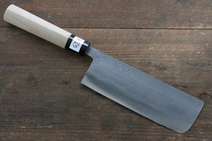 Fujiwara Teruyasu White Steel No.1 Nashiji Nakiri Japanese Knife 165mm with Magnolia Handle