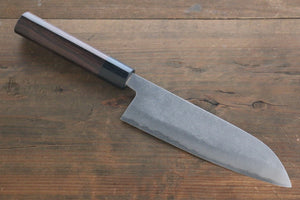 Yoshimi Kato Blue Super Clad Nashiji Santoku Japanese Chef Knife 165mm
