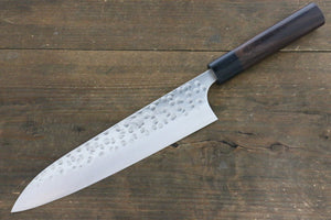 Yoshimi Kato Silver Steel No.3 Hammered Gyuto Japanese Chef Knife 210mm