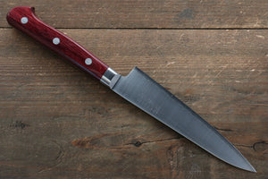 Takamura Knives R2/SG2 Petty-Utility Japanese Knife 130mm with Red Pakka wood Handle