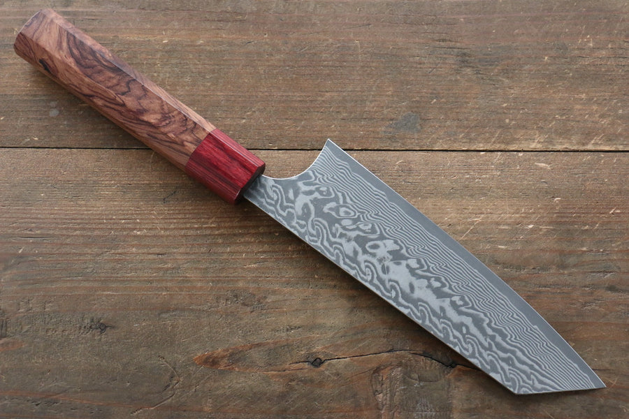 Yoshimi Kato R2/SG2 Damascus Bunka Japanese Chef Knife 165mm with Honduras Handle