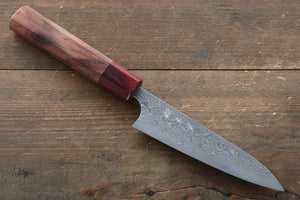 Yoshimi Kato R2/SG2 Damascus Petty Japanese Chef Knife 120mm with Honduras Handle