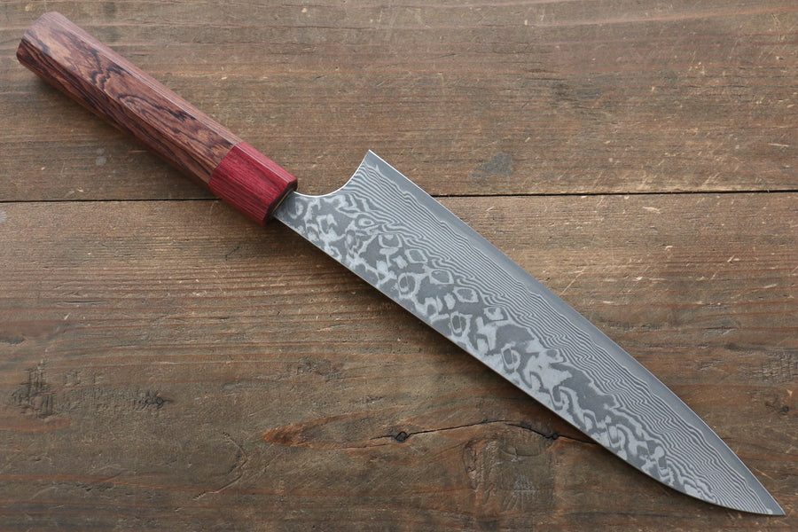 Yoshimi Kato R2/SG2 Damascus Gyuto Japanese Chef Knife 210mm with Honduras Handle