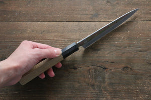 Choyo Blue Steel No.1 Mirrored Finish Petty-Utility Japanese Knife 150mm with Magnolia Handle
