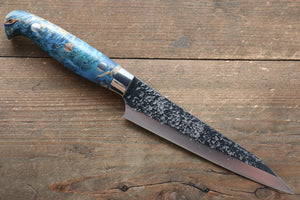 Yu Kurosaki Yu Kurosaki Shizuku R2/SG2 Hammered Petty-Utility Japanese Knife 130mm with Stabilized wood Handle