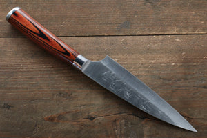 Takeshi Saji SRS13 Hammered Petty-Utility Japanese Knife 130mm with Red Pakka wood Handle