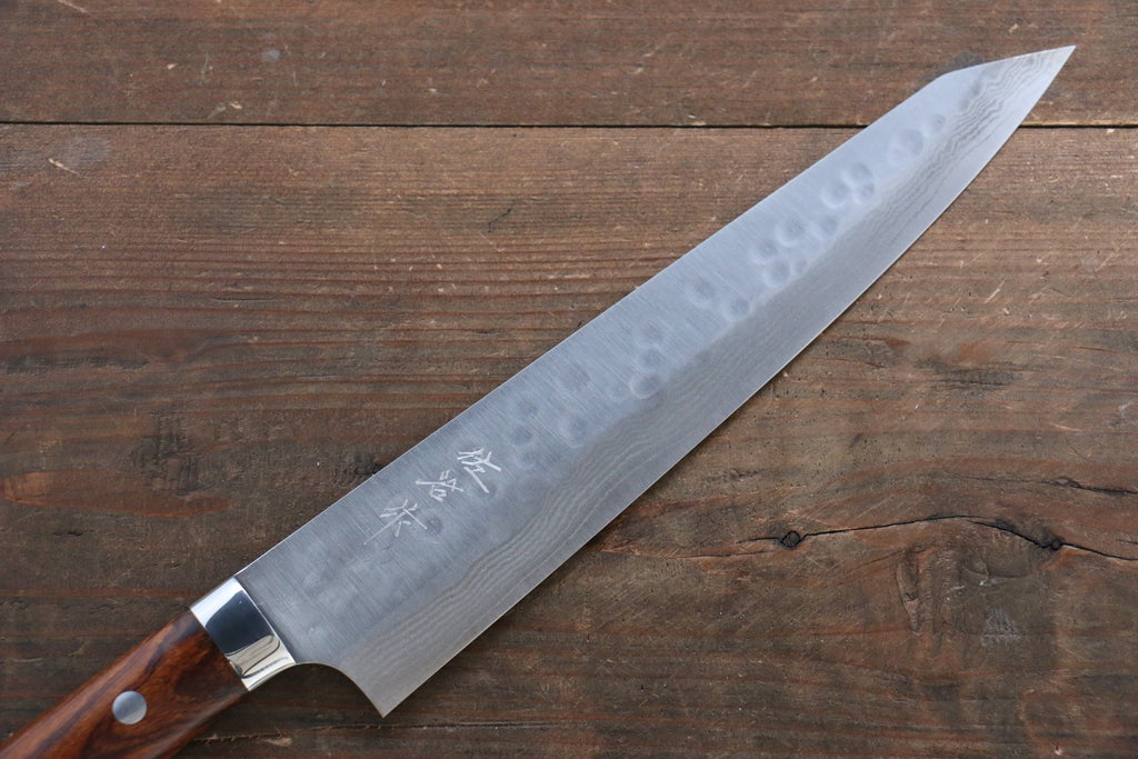 Kenshin17 Layer Damascus Hammered Japanese Chef Petty Utility Knife 135mm