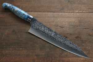 Yu Kurosaki Shizuku R2/SG2 Hammered Gyuto Japanese Knife 240mm with Stabilized wood Handle