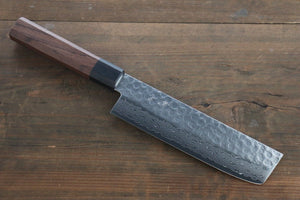 "Seisuke AUS-10 45 Layer Damascus Japanese Chef""s Nakiri Knife 165mm"